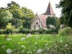 Holy Trinity Church, Markbeech seen across Church field