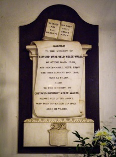 Monument to Edmund Meade-Waldo in St Peter's church, Hever