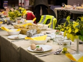 Passover supper table