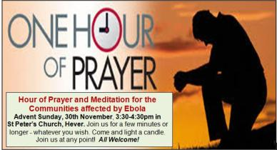 One Hour of Prayer invitation