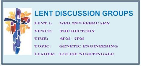 Lent Discussion Groups
