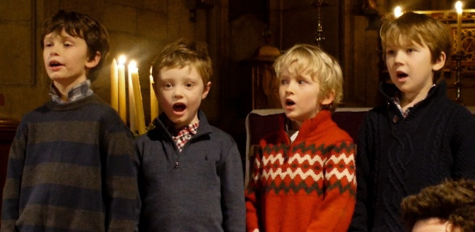 Little stars of the Carol Service