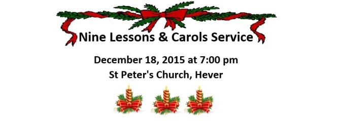 Hever Carol Service