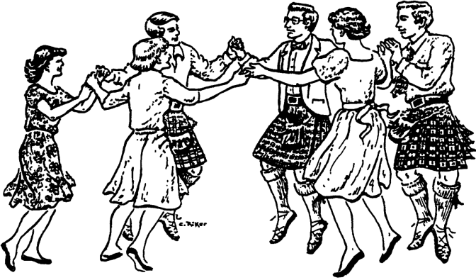 Scottish dancing in Markbeech 19th February