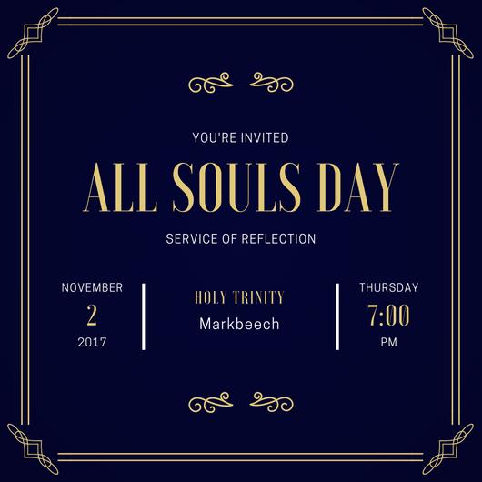 All Souls Day Invitation