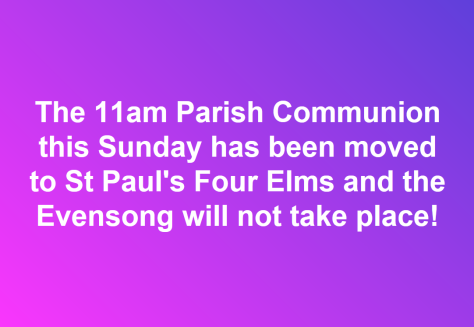 10am Service moved to FE