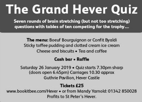 Grand Hever Quiz 2019
