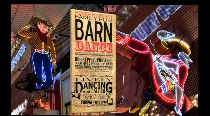 HEVER BARN DANCE 7th September
